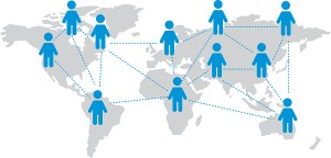 World map Social networking service Vector